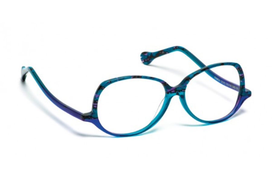 BOZ Bimba Eyeglasses in 2575 Safari Bleu/Bleu Degrade